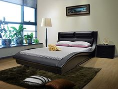 Greatime B1141 Eastern King Size Black Color Contemporary Platform Bed, no need of box spring -- Check out this great product.