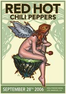 Red Hot Chili Peppers concert poster