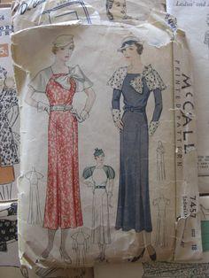 McCall 7457 | 1930s Misses' Dress