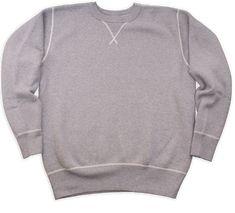 Buzz Rickson/'s Plain 4 Needle Sweatshirt Heather Grey