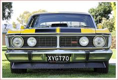 Ford Falcon XY GT - Full Frontal from Classic Car Photography - My list of the best classic cars Best Cars For Women, Best Cars For Teens, Australian Muscle Cars, Aussie Muscle Cars, Ford Classic Cars, Best Classic Cars, Car Ford, Ford Gt, Black Car Wallpaper