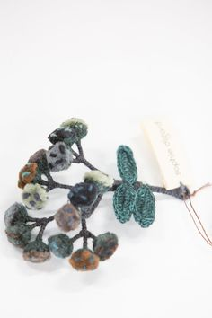 Sophie Digard | Imortelle Brooch | Petrol Appreciation, Delicate, Velvet, Textiles, Construction, Brooch, It Is Finished, Deep, Colour