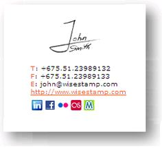 """Consider getting a """"customized"""" signature for your documents, blogs and websites with MyLiveSignature.com"""
