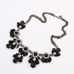 Crystal Charms Statement Choker Pendent Necklace