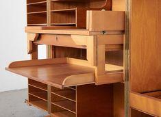 Meuble Desk in a Box de Mummenthaler & Meier, 1950s en vente sur Pamono Style Vintage, Vintage Design, Atelier Home, Convertible, Magic Box, Smart Design, Shoe Rack, Corner Desk, 1950s