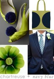 Or navy and chartruese