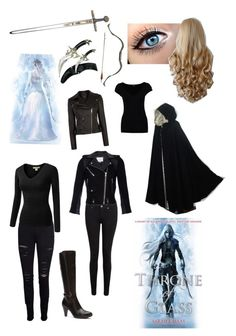 """Celaena Sardothien from Throne of Glass by Sarah J. Maas"" by read-read-read ❤ liked on Polyvore featuring Paige Denim, Blondo, Frame, Bow & Arrow, Karen Millen, IRO, J.TOMSON and Morgan"