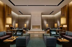Hotel lobby of The Upper House, Hong Kong. By Andre Fu.