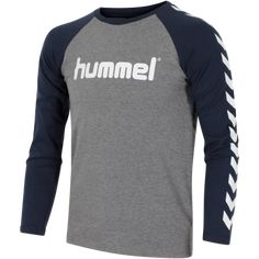 c86911a60e0 Hummel Boys T-shirt L/Æ - Børn(Medium Melange)Langærmet T-shirt til Børn