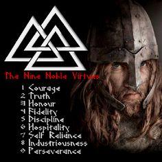 Norse Viking virtues