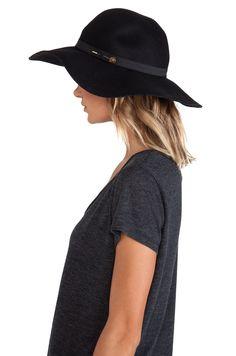 Maison Scotch Bohemian Hat in Black