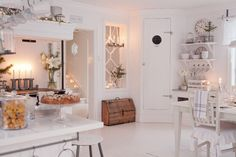 Image in Home, Sweet Home collection by Shorena Ratiani Swedish Cottage, Swedish House, White Floorboards, Sweet Home Collection, Interior Decorating, Interior Design, Vintage Interiors, Slow Living, White Houses