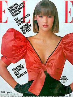 Sophie Marceau for Elle France 1982 Fashion Mag, 80s Fashion, Fashion History, Editorial Fashion, Vintage Fashion, Fashion Trends, Vintage Mode, Look Vintage, Retro Vintage