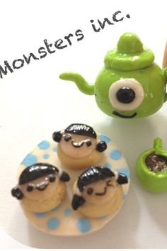 Monsters inc polymer clay charms