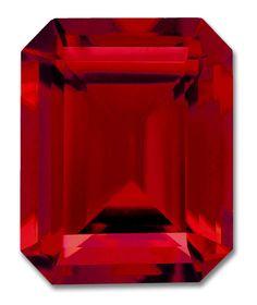 10x8mm Octagon Emerald Cut Gem Quality Chatham-Created Cultured Ruby Weighs 4.05-4.95 Ct.