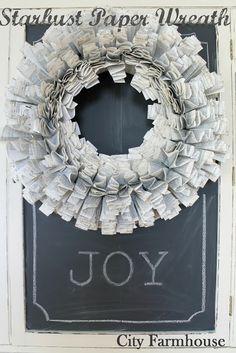 DIY Starburst Paper Wreath Tutorial