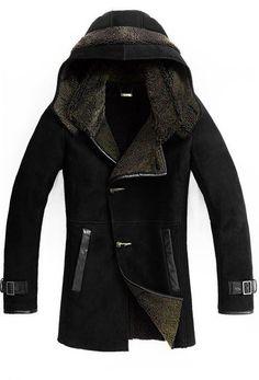 top quality winter genuine leather jacket men with fur men coat winter Mode Masculine, Herren Winter, Mens Winter Coat, Sheepskin Coat, Shearling Coat, Well Dressed, Mantel, Look, Winter Fashion