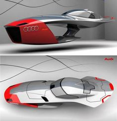 Audi Calamaro Concept flying car, does it look like it is something right out of a video game? -Yes. Wipeout.