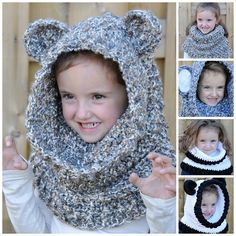 Un'bear'ably Cute Hooded Cowl Crochet Pattern