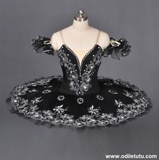 Professional Classical Ballet Tutu Black Swan Performance Dance Costume