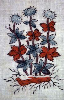 Close-up of Textile (Switzerland), 18th century Medium: cotton Technique: block printed on plain weave. Accession #1962-73-1