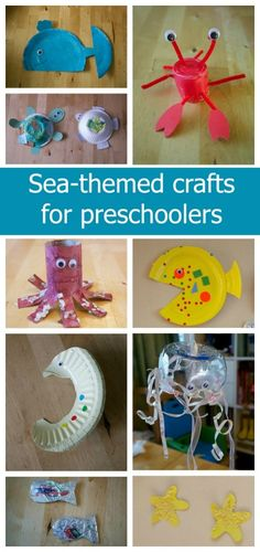 Sea-themed crafts for preschoolers - a fantastic selection of quick and easy crafts for toddlers and preschoolers - Little Hearts, Big Love