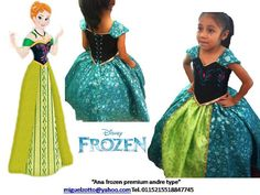 Princess Ana Anna Frozen disney Elsa by miguelzottoyahoocom. My little girl would love this! Frozen Disney, Anna Frozen, Frozen Outfits, Frozen Dress, Disney Outfits, Girl Outfits, Frozen Theme Party, Frozen Birthday Party, Princesa Elsa Frozen