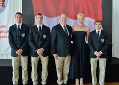 Princess Charlene and Prince Albert met with Olympics athletes
