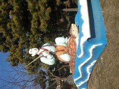 乙姫公園 浦島太郎のオブジェ