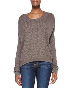 Alice + Olivia Mixed-Knit Loose Sweater