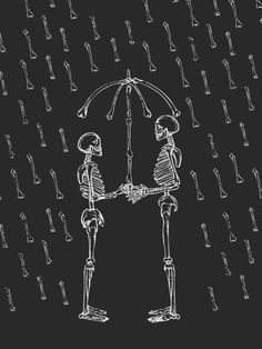 """Raining Bone"" Art Print by Huebucket on Society6."