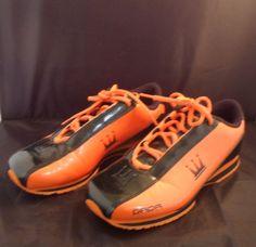 DADA Supreme Orange Black crown basketball shiny shoes tennis shoes Mens   8.5  DadaSupreme   35cea242d68
