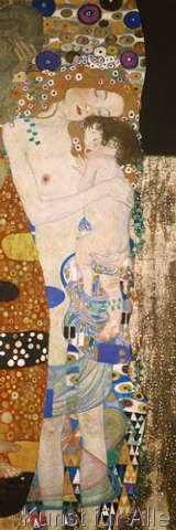 Gustav Klimt - Die drei Lebensalter (Detail)