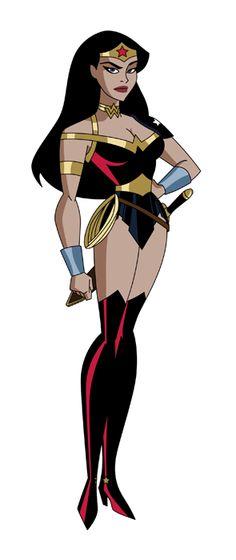 Dc Comics Art, Comics Girls, Marvel Dc Comics, Batman Wonder Woman, Wonder Women, Dc Trinity, Justice League Unlimited, Bruce Timm, Superhero Design