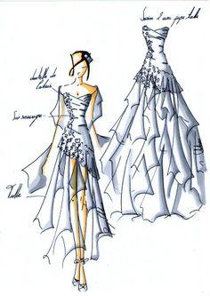 croquis robe - Mary Viloteau
