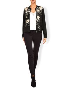 The Simone bomber jacket is the shape of the season, and this embroidered number is absolutely gorgeous. With a chunky concealed zip and gold-tone florals to...