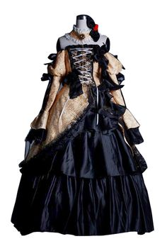 Vocaloid Aku No Musume Rin Kagamine Long Dress Cosplay Costume  This is everything I want.  Everything.  I'll sell you my kidney!!! /o/