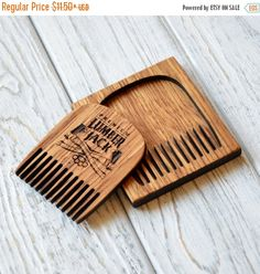 ON SALE Lumberjack Beard comb Personalized custom engraved wooden comb. For men, for him. I love my beard. Beard comb, moustache comb, hair