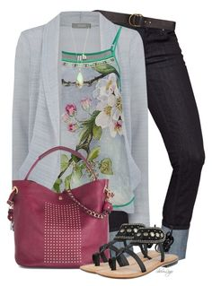 """""""Untitled #2473"""" by sherri-leger ❤ liked on Polyvore featuring Billabong, Oasis, BLANK, Joie and Azura"""
