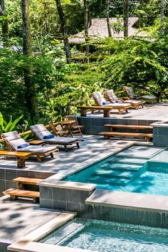 Soak up some Costa Rican rays at the cascading infinity pool. Copa de Arbol Beach & Rainforest Resort (Drake Bay, Costa Rica) - Jetsetter