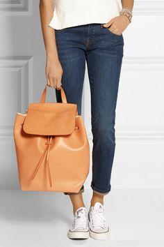 Mansur Gavriel Tan leather drawstring backpack