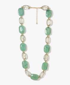 $6.80 Gem Stone Necklace   FOREVER21