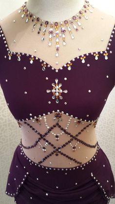 Custom made Del Arour figure skating dress by VioletsFashionTrunk