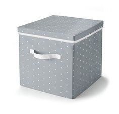 Úložný box s vekom, sivo-biely so vzorom