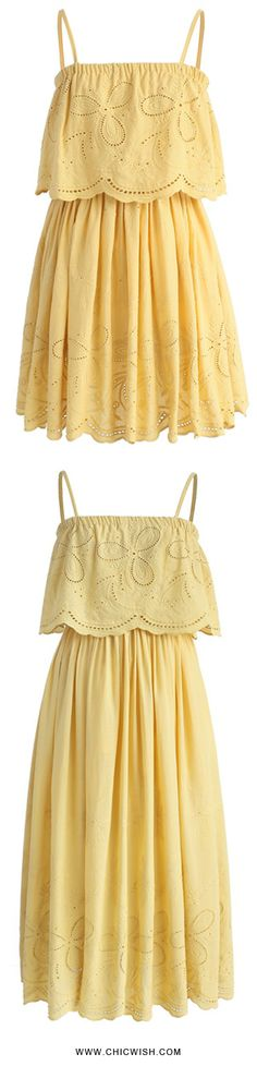 Tickle Me Picnic Embroidery Cotton Dress Find More at Chicwish.com
