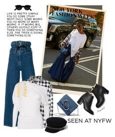 """Snap It: NYFW Style 😀"" by ragnh-mjos ❤ liked on Polyvore featuring Y/Project, 3.1 Phillip Lim, Hache, Tom Ford, River Island, Kenneth Jay Lane, StreetStyle, contest and outfit"