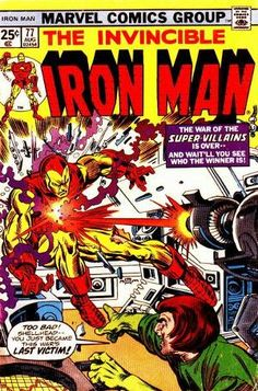 Iron Man Vol. 1 #77, cover by Gil Kane inked by Al Milgrom