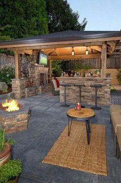 Pergola For Small Patio Pergola Design, Patio Pergola, Backyard Pavilion, Backyard Bar, Backyard Patio Designs, Backyard Landscaping, Patio Ideas, Garden Ideas, Gazebo