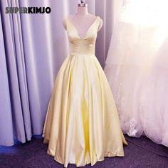 Prom Dresses With Pockets, V Neck Prom Dresses, Elegant Prom Dresses, Lace Evening Dresses, Cheap Prom Dresses, Dress Prom, Formal Dresses, Simple Prom Dress, Dress Robes