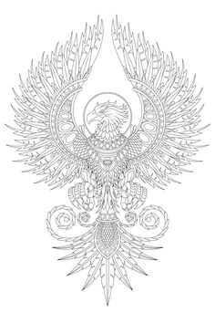 A clothing example for the exploration of a legendary Phoenix-substance ., - A clothing example for the exploration of a legendary Phoenix-substance …, - Body Art Tattoos, New Tattoos, Sleeve Tattoos, Phoenix Art, Phoenix Rising, Animal Coloring Pages, Colouring Pages, Tattoo Sketches, Tattoo Drawings